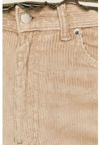 Beżowe spodnie materiałowe Dr. Denim na co dzień, casualowe