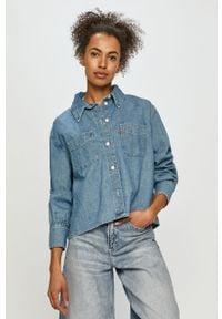 Niebieska koszula Levi's® długa, gładkie, na co dzień