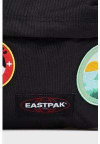 Eastpak - Plecak. Kolor: czarny. Wzór: aplikacja