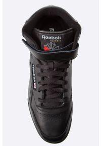 Czarne sneakersy Reebok Classic z okrągłym noskiem, Reebok Classic, z cholewką