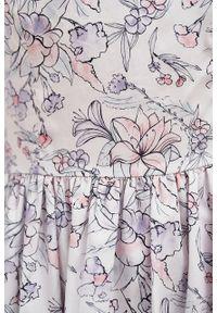 Marie Zélie - Sukienka Melania Lorica. Materiał: skóra, bawełna, satyna, materiał. Długość rękawa: krótki rękaw