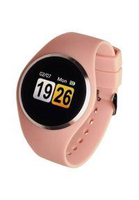 Różowy zegarek GARETT elegancki, smartwatch