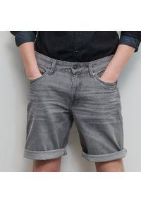 Reserved - Jeansowe szorty - Szary. Kolor: szary. Materiał: jeans