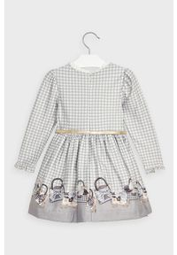 Szara sukienka Mayoral rozkloszowana, mini
