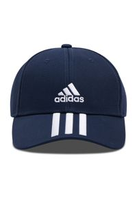 Adidas - Czapka z daszkiem adidas - Baseball 3-Stripes Twill Cap GE0750 Legink/White/White. Kolor: niebieski. Materiał: materiał, bawełna