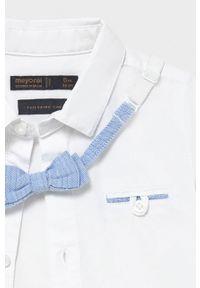 Biała koszula Mayoral długa, elegancka, z długim rękawem