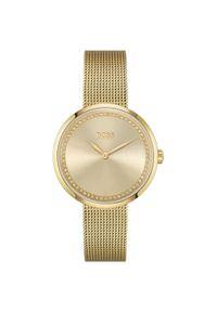 Złoty zegarek HUGO BOSS sportowy, analogowy
