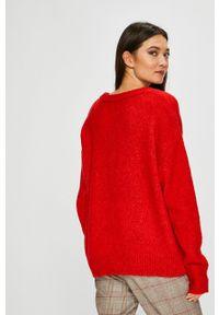 Czerwony sweter medicine z okrągłym kołnierzem #5