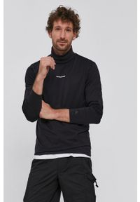 Calvin Klein Jeans - Longsleeve. Okazja: na co dzień. Typ kołnierza: golf. Kolor: czarny. Materiał: bawełna, dzianina. Długość rękawa: długi rękaw. Wzór: gładki. Styl: casual