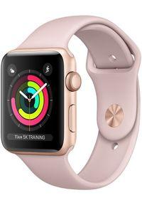 Apple Refurbished smartwatch Watch Series 3, 42mm Gold Aluminium Case with Pink Sand Sport Band. Rodzaj zegarka: smartwatch. Kolor: różowy. Styl: sportowy