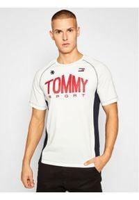 Beżowy t-shirt Tommy Sport sportowy