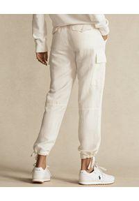 Ralph Lauren - RALPH LAUREN - Kremowe spodnie cargo. Kolor: beżowy. Materiał: tkanina #3