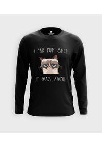 MegaKoszulki - Koszulka męska z dł. rękawem I Had Fun Once. Materiał: bawełna