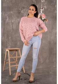 Sweter Merribel w ażurowe wzory