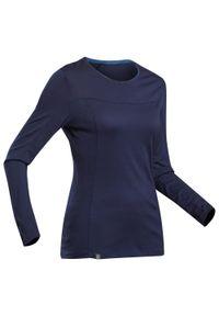 FORCLAZ - Koszulka trekkingowa damska z długim rękawem Forclaz TREK 500 MERINO. Materiał: poliamid, materiał, wełna. Długość rękawa: długi rękaw. Długość: długie