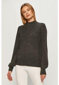 Szary sweter Vila z długim rękawem, casualowy