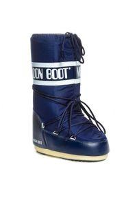 Niebieskie śniegowce Moon Boot