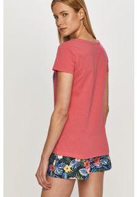 Henderson Ladies - Piżama. Kolor: różowy. Materiał: dzianina. Wzór: nadruk