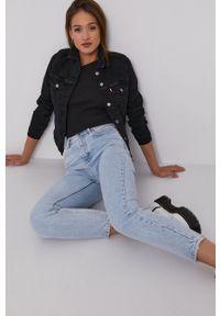 Levi's® - Levi's - Kurtka jeansowa. Okazja: na co dzień, na spotkanie biznesowe. Kolor: czarny. Materiał: jeans. Wzór: gładki. Styl: biznesowy, casual