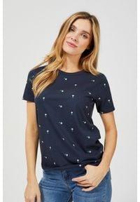 MOODO - Bawełniany t-shirt z nadrukiem. Materiał: bawełna. Długość rękawa: krótki rękaw. Długość: krótkie. Wzór: nadruk