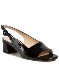 Czarne sandały HÖGL casualowe, na co dzień