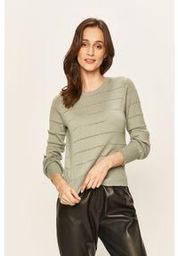 Zielony sweter Vero Moda na co dzień, casualowy