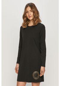 Czarna piżama Calvin Klein Underwear długa, z nadrukiem