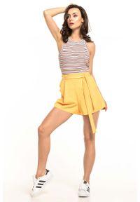 Żółte spodnie Tessita krótkie