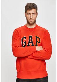 Czerwona bluza nierozpinana GAP z aplikacjami, casualowa, na co dzień, bez kaptura