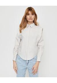 ISABEL MARANT - Bawełniana koszula Kigalki. Okazja: do pracy. Kolor: beżowy. Materiał: bawełna. Długość rękawa: długi rękaw. Długość: długie. Styl: klasyczny