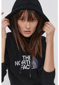 The North Face - Bluza bawełniana. Typ kołnierza: kaptur. Kolor: czarny. Materiał: bawełna. Długość rękawa: długi rękaw. Długość: długie. Wzór: aplikacja