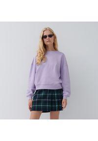 House - Gładka bluza basic - Fioletowy. Kolor: fioletowy. Wzór: gładki