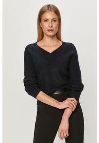 Niebieski sweter Jacqueline de Yong na co dzień, gładki, z długim rękawem