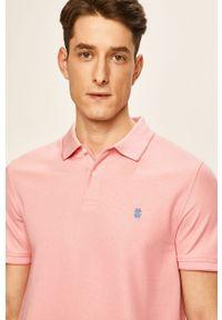 Różowa koszulka polo Izod krótka, polo