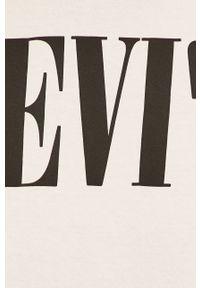 Biały t-shirt Levi's® na co dzień, w kolorowe wzory