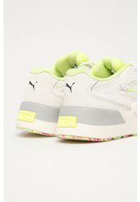 Białe buty sportowe Puma na sznurówki, z cholewką