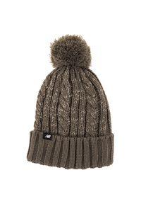 Brązowa czapka New Balance na zimę