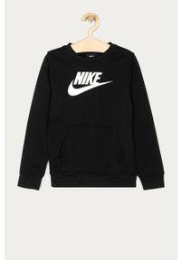 Czarna bluza Nike Kids casualowa, na co dzień, bez kaptura