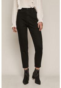 Czarne jeansy loose fit medicine gładkie, z podwyższonym stanem