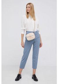 Calvin Klein Jeans - Torebka. Kolor: beżowy. Rodzaj torebki: na ramię