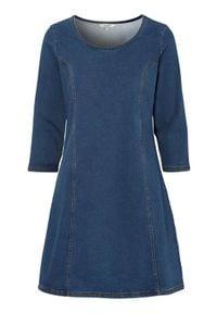 Cellbes Sukienka dżinsowa denim female niebieski 50/52. Kolor: niebieski. Materiał: denim. Styl: elegancki