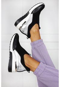 Czarne buty sportowe Aga