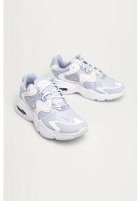 Białe buty sportowe Nike Sportswear na sznurówki, z cholewką