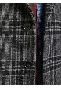 Jack & Jones - Jack&Jones PREMIUM Płaszcz przejściowy Blamoulder Check 12175885 Szary Regular Fit. Kolor: szary