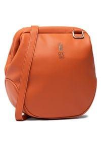 Fly London - Torebka FLY LONDON - Darwin BICA712FLY Dk.Orange. Kolor: pomarańczowy. Materiał: skórzane. Rodzaj torebki: na ramię