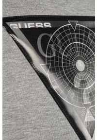 Czarna bluza Guess na co dzień, z kapturem