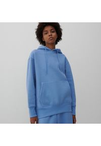 Reserved - Bluza kangurka z kapturem - Niebieski. Typ kołnierza: kaptur. Kolor: niebieski