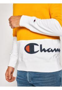 Champion Bluza Colour Block Wraparound 214206 Żółty Regular Fit. Kolor: żółty