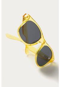 Żółte okulary przeciwsłoneczne Vans gładkie