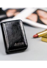 LORENTI - Portfel damski czarny Lorenti 5157-BPR-1301 BLACK. Kolor: czarny. Materiał: skóra